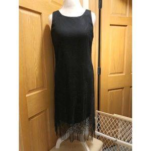 Harlow size 10 lace shift dress with fringe